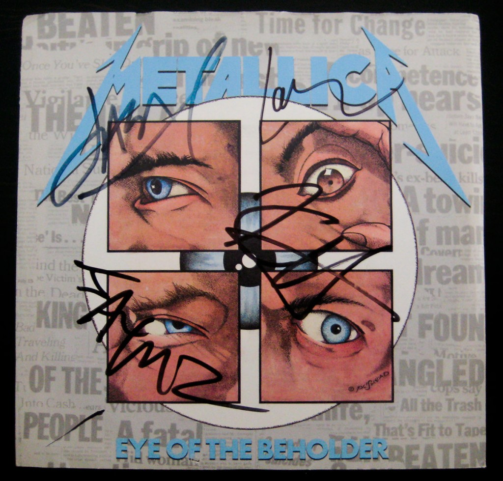 Metallica - Eye of the Beholder - Autographed 7""